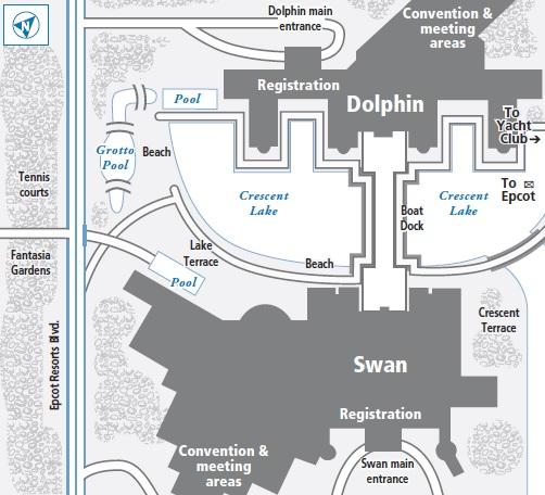 Swan At Walt Disney World
