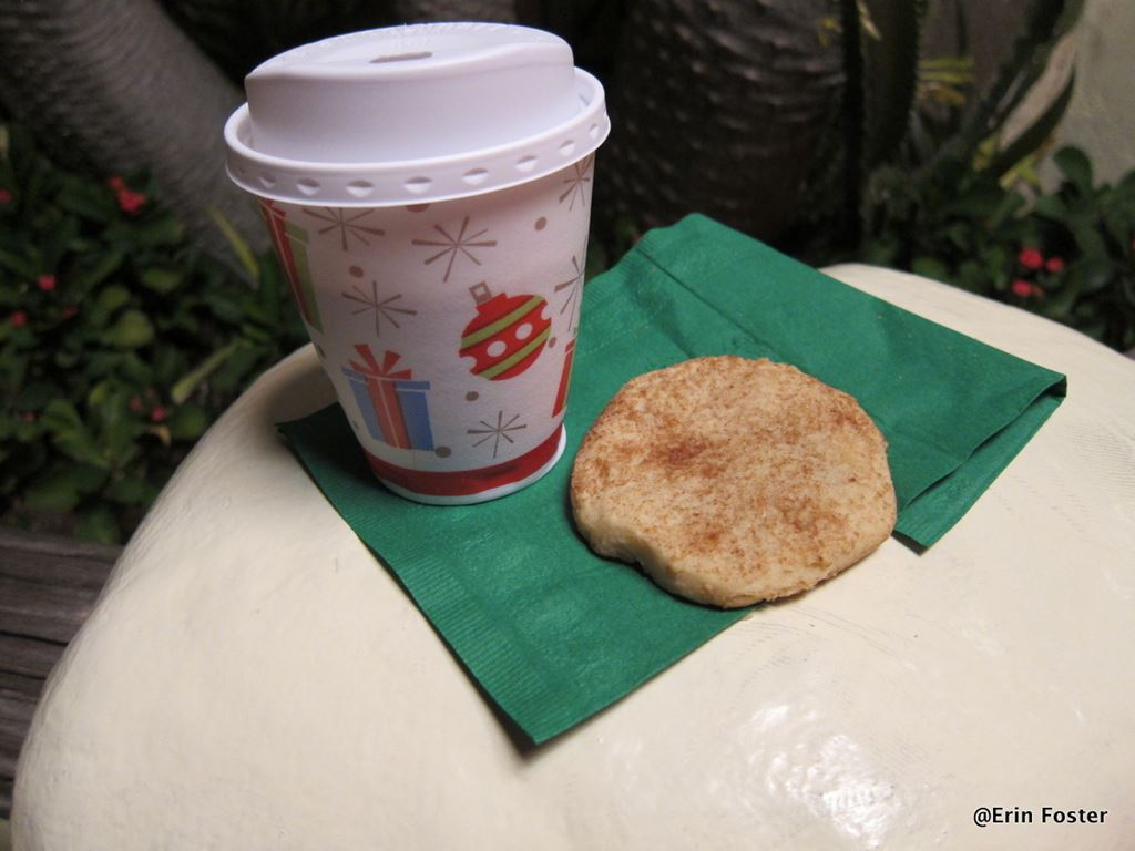 Complimentary snacks at Mickey's Very Merry Christmas Party