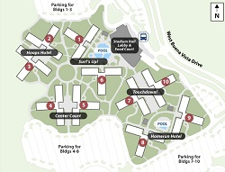 all star sports hotel map