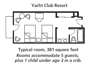 Disney S Yacht Club Resort Room Layout