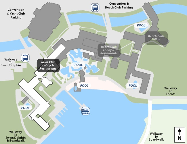 Disney S Yacht Club Resort Map