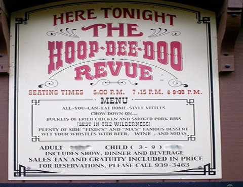 Hoop dee do revue menu