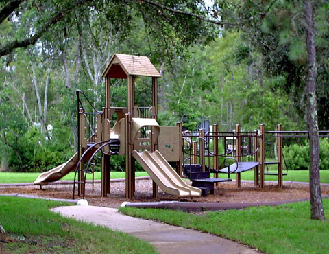 Playground at meadow recreation area