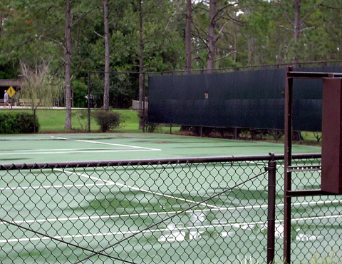 Tennis court at meadow recreation area 2